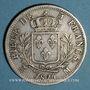Monnaies 1ère Restauration, Louis XVIII (1814-1815). 5 francs buste habillé 1814M. Toulouse