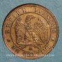 Monnaies 2e empire (1852-1870). 1 centime tête laurée 1861A