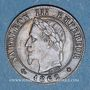 Monnaies 2e empire (1852-1870). 1 centime tête laurée 1862BB. Strasbourg. Grand BB