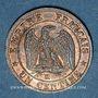 Monnaies 2e empire (1852-1870). 1 centime tête laurée 1862K. Bordeaux