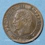 Monnaies 2e empire (1852-1870). 1 centime, tête nue, 1853A