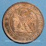 Monnaies 2e empire (1852-1870). 1 centime, tête nue, 1853MA. Marseille