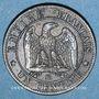 Monnaies 2e empire (1852-1870). 1 centime, tête nue, 1854BB. Strasbourg