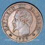 Monnaies 2e empire (1852-1870). 1 centime, tête nue, 1856BB. Strasbourg