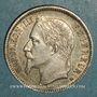 Monnaies 2e empire (1852-1870). 1 franc tête laurée 1867A