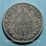 Monnaies 2e empire (1852-1870). 1 franc tête nue 1859A