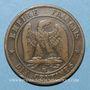 Monnaies 2e empire (1852-1870). 10 centimes, tête laurée, 1863BB. Strasbourg