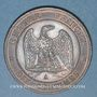 Monnaies 2e empire (1852-1870). 10 centimes, tête nue, 1857A