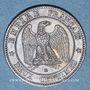 Monnaies 2e empire (1852-1870). 2 centimes tête laurée 1861 BB. Strasbourg. Pointe du buste alignée sur le 1