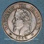 Monnaies 2e empire (1852-1870). 2 centimes tête laurée 1862 A