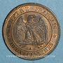 Monnaies 2e empire (1852-1870). 2 centimes tête nue 1853 A