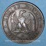 Monnaies 2e empire (1852-1870). 2 centimes, tête nue, 1853BB. Strasbourg
