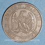 Monnaies 2e empire (1852-1870). 2 centimes, tête nue, 1853K. Bordeaux