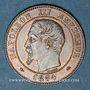 Monnaies 2e empire (1852-1870). 2 centimes, tête nue, 1854D. Lyon. Grand D