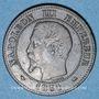 Monnaies 2e empire (1852-1870). 2 centimes, tête nue, 1854D. Lyon. Petit D