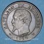 Monnaies 2e empire (1852-1870). 2 centimes, tête nue, 1854W. Lille
