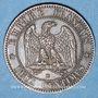 Monnaies 2e empire (1852-1870). 2 centimes, tête nue, 1855BB. Strasbourg. Tête de chien