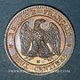 Monnaies 2e empire (1852-1870). 2 centimes, tête nue, 1855MA. Marseille, ancre