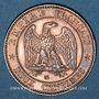 Monnaies 2e empire (1852-1870). 2 centimes, tête nue, 1855MA. Marseille. Tête de chien