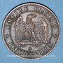 Monnaies 2e empire (1852-1870). 2 centimes, tête nue, 1856BB. Strasbourg