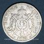 Monnaies 2e empire (1852-1870). 2 francs, tête laurée, 1869BB. Strasbourg