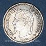 Monnaies 2e empire (1852-1870). 20 centimes, tête laurée, grand module, 1867A