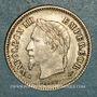 Monnaies 2e empire (1852-1870). 20 centimes, tête laurée grand module 1867BB. Strasbourg