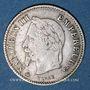 Monnaies 2e empire (1852-1870). 20 centimes, tête laurée, grand module, 1868A