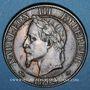 Monnaies 2e empire (1852-1870). 5 centimes, tête laurée, 1864BB. Strasbourg