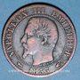 Monnaies 2e empire (1852-1870). 5 centimes, tête nue, 1853A