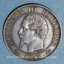 Monnaies 2e empire (1852-1870). 5 centimes, tête nue, 1855A. Chien