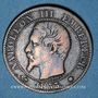 Monnaies 2e empire (1852-1870). 5 centimes, tête nue, 1855MA. Marseille, ancre