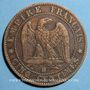 Monnaies 2e empire (1852-1870). 5 centimes, tête nue, 1856BB. Strasbourg