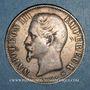 Monnaies 2e empire (1852-1870). 5 francs tête nue 1856BB. Strasbourg