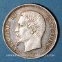 Monnaies 2e empire (1852-1870). 50 centimes, tête nue, 1853A
