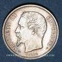 Monnaies 2e empire (1852-1870). 50 centimes, tête nue, 1854A
