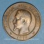 Monnaies 2e empire (1852-1870). Module de 10 centimes 1853. Visite de Lille
