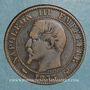 Monnaies 2e empire (1852-1870). Module de 5 centimes 1853. Visite de Lille