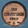 Monnaies 2e république (1848-1852). 1 centime 1848 A