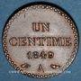 Monnaies 2e république (1848-1852). 1 centime 1849A