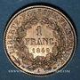 Monnaies 2e république (1848-1852). 1 franc 1849 A