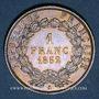 Monnaies 2e république (1848-1852). 1 franc Louis-Napoléon 1852 A