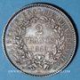 Monnaies 2e république (1848-1852). 2 francs Cérès 1849A