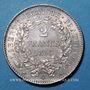 Monnaies 2e république (1848-1852). 2 francs Cérès 1850A
