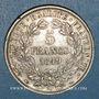 Monnaies 2e république (1848-1852). 5 francs Cérès 1849 A. Main et chien