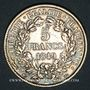 Monnaies 2e république (1848-1852). 5 francs Cérès 1849A. Main et chien