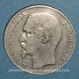 Monnaies 2e république (1848-1852). 5 francs Louis-Napoléon 1852A, tête large