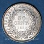 Monnaies 2e république (1848-1852). 50 centimes 1850 A