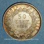 Monnaies 2e république (1848-1852). 50 centimes Louis-Napoléon 1852 A