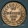 Monnaies 2e Restauration (1815-24). 2e blocus de Strasbourg 1815. 1 décime 1815BB points après DECIME et 1815